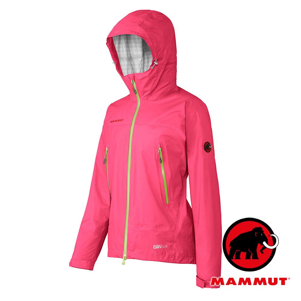 MAMMUT長毛象女單件式防水透氣外套僅225g超輕量DRYtech MICROLAYER洋紅1010-25350非GORE-TEX