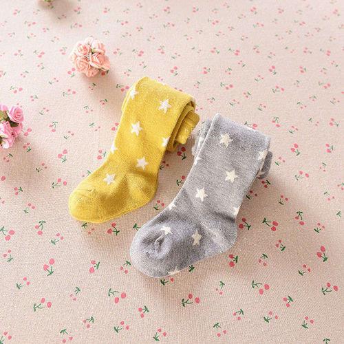 五角星星棉質兒童保暖加厚內搭褲襪 童襪 保暖襪 長褲