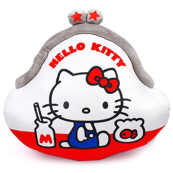 Hello Kitty抱枕懷舊風格零錢包造型絨毛靠墊抱枕靠枕喜愛屋