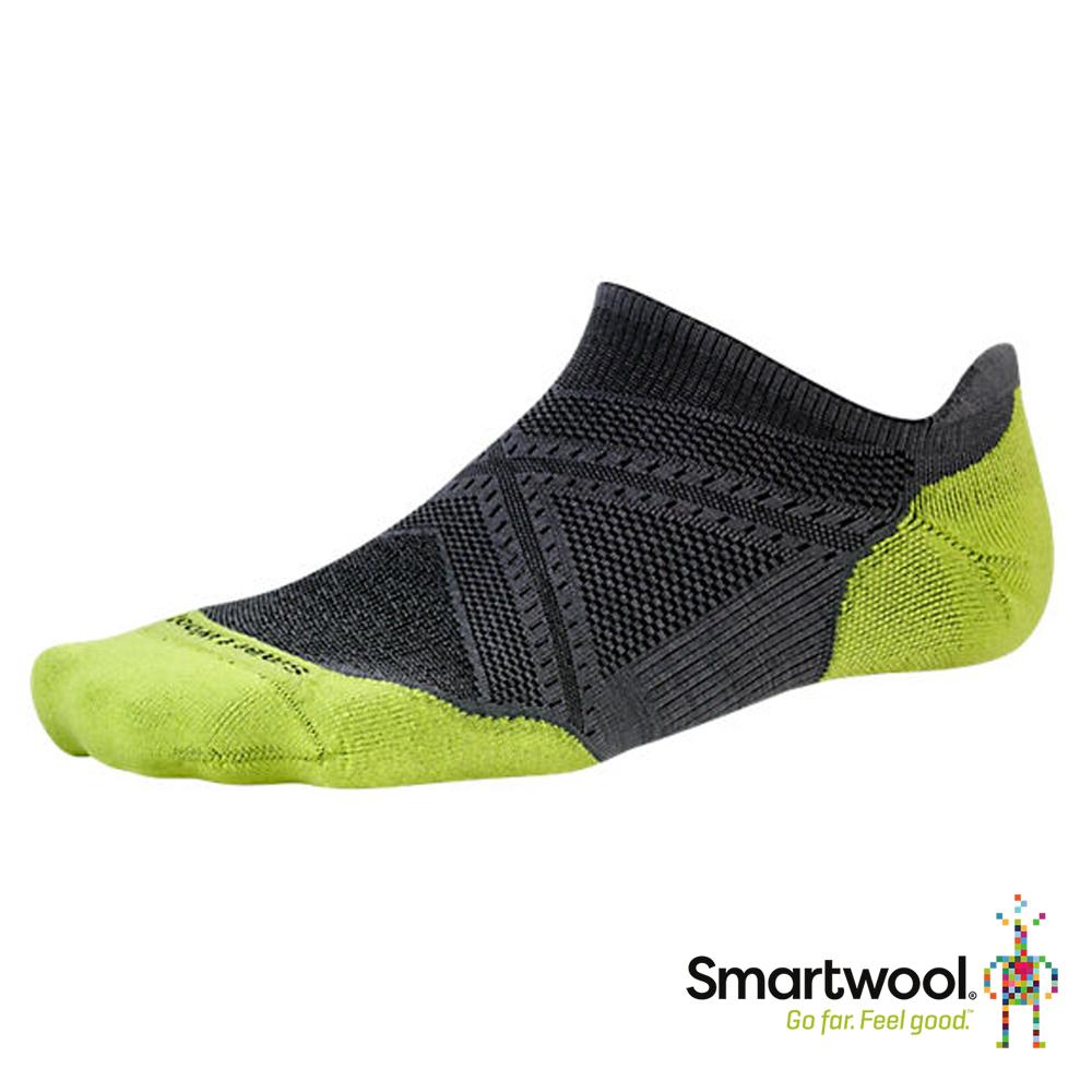 Smartwool 男 PhD輕量菁英減震型跑步踝襪『石墨灰』SW167 美國製|保暖襪|登山襪|運動襪