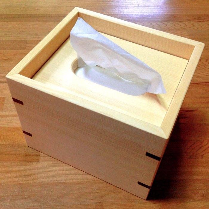 【木樂館】原木方形衛生紙盒│阿拉斯加扁柏黃檜│活動式面紙盒木盒置物盒居家雜貨