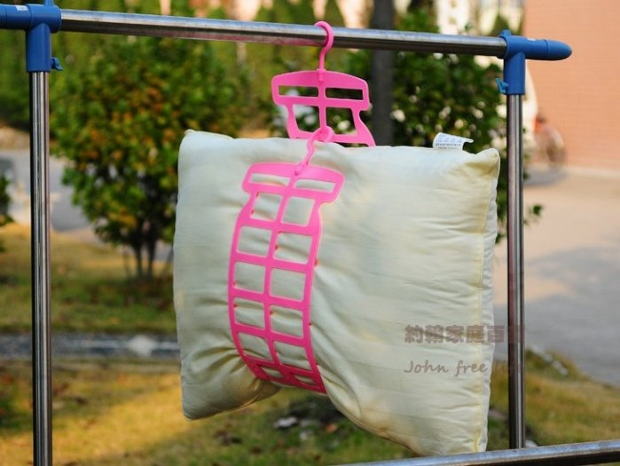 約翰家庭百貨》【BE130】日式枕頭晾曬架 枕心曬架娃娃玩偶曬架 顏色隨機出貨