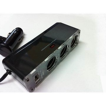 3孔點煙器插座 USB充電 手機 GPS導航 充電  車充