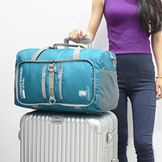 MY COLOR可摺疊單肩手提行李袋健身包旅遊多功能登山大容量運動用品P321