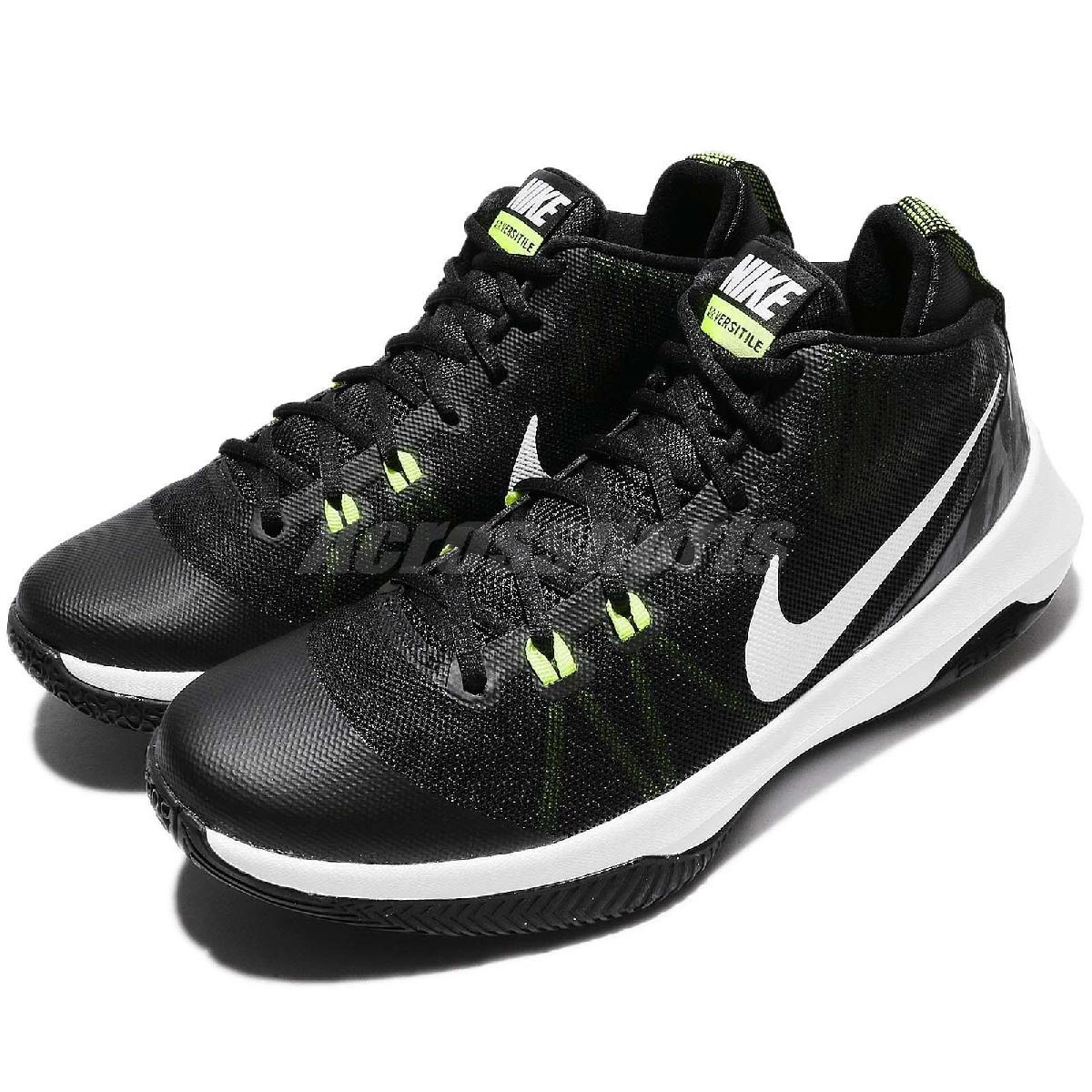 Nike籃球鞋Air Versitile黑白氣墊高筒男鞋黑白基本款運動鞋PUMP306 852431-009