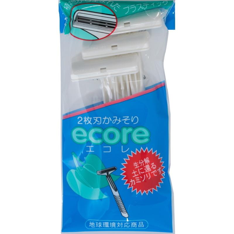 日本貝印2刀刃環保刮鬍刀3入ECO-3P