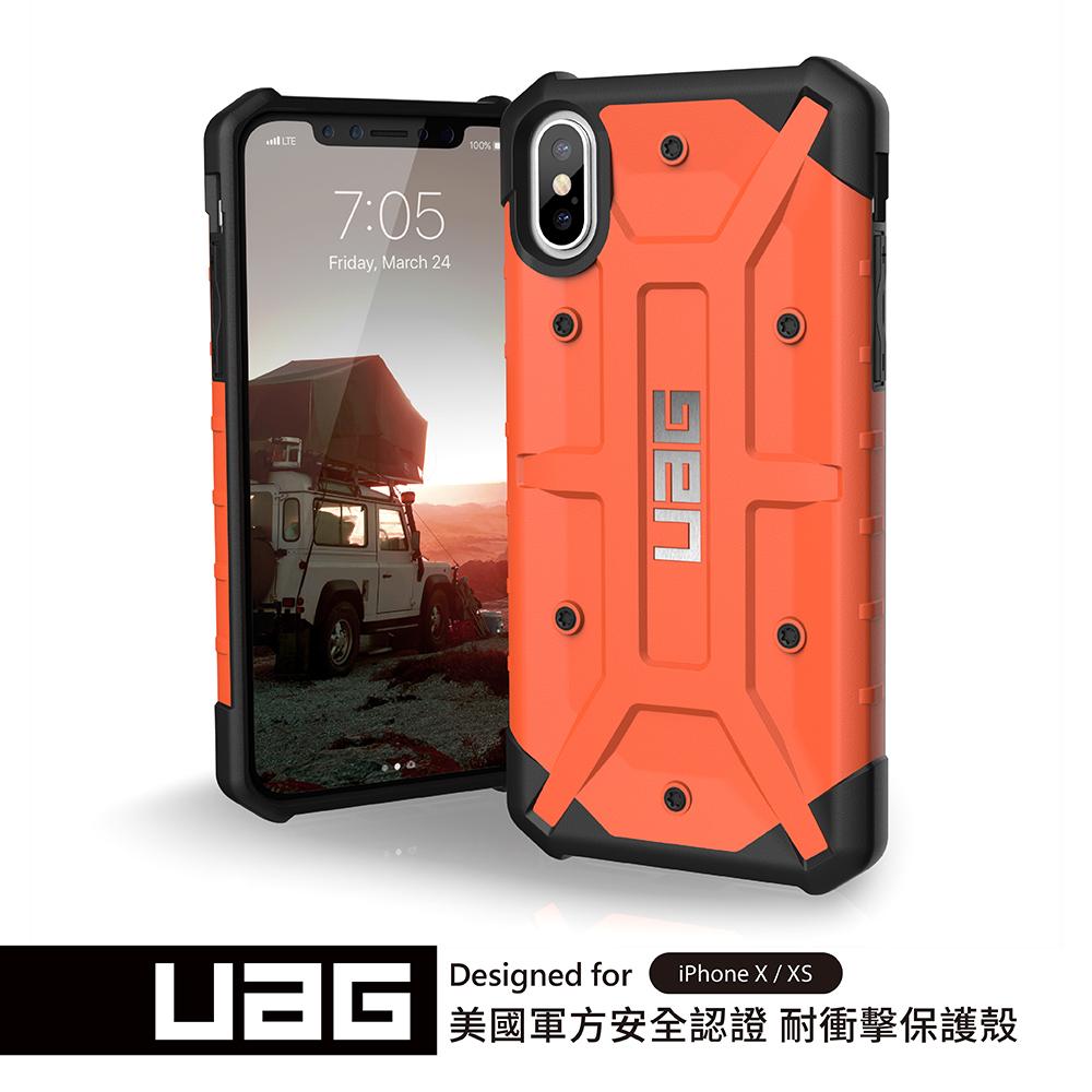 UAG iPhone X/XS 耐衝擊保護殼-橘