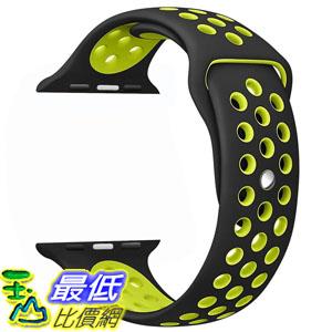 [106美國直購] 手錶帶 OULUOQI 42mm Soft Silicone Replacement Wrist Strap for Apple Watch Nike  Edition M/L Size