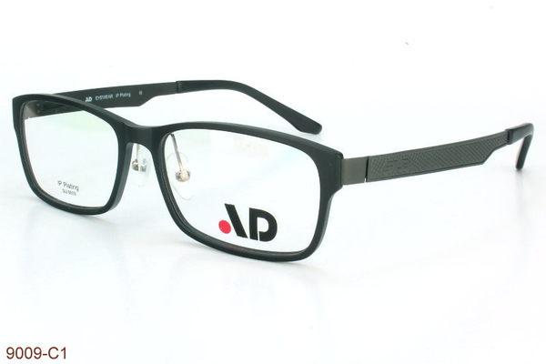 AD品牌~台灣製TR90塑膠鈦材質/薄鋼鏡腳框近視光學型號:9009/9010