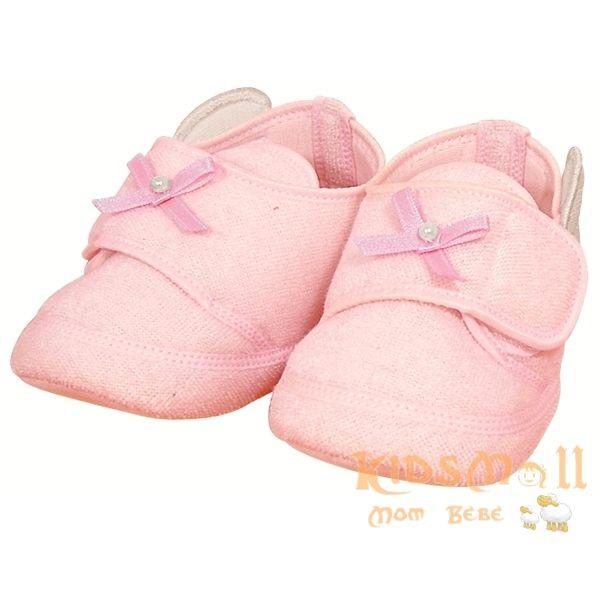 日本製Angel Dept超可愛天使造型嬰兒鞋-粉
