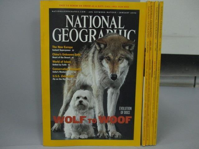 【書寶二手書T3/雜誌期刊_XCG】National Geographic_2002/1~6月間缺2月_共5本合售_D-