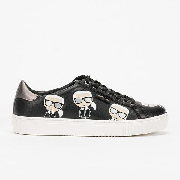 Karl Lagerfeld 鞋 KUPSOLE MULTI-Q版綁帶休閒男鞋-黑