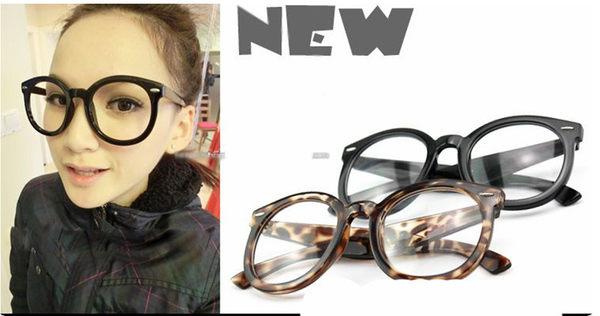 米釘黑色圓形復古造型阿拉蕾可愛風格百搭款平光眼鏡鏡框鏡架超取3-7天收貨