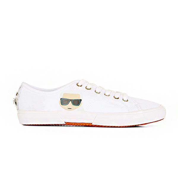 Karl Lagerfeld鞋  IKONIK經典帆布休閒鞋-白