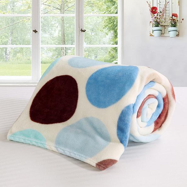 保暖法蘭絨隨意毯/童毯/空調毯 (100x140cm) 圓舞曲