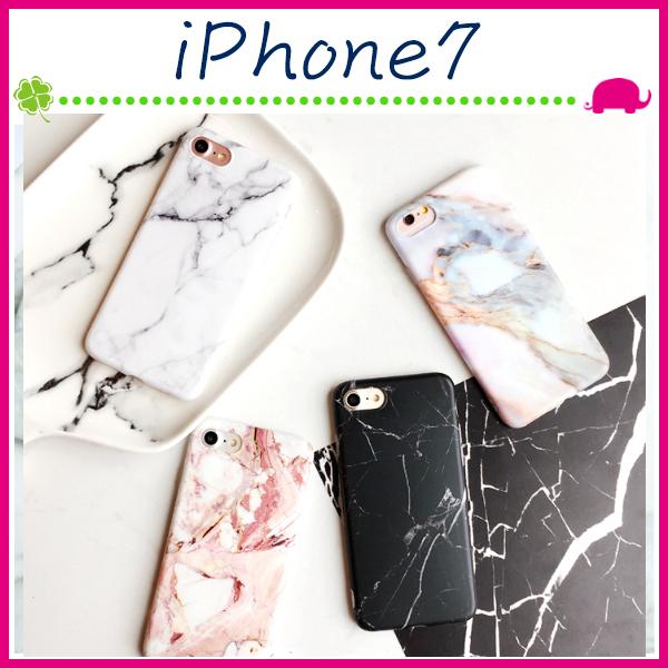 Apple iPhone7 4.7吋Plus 5.5吋石頭紋背蓋TPU手機套軟殼保護套全包邊手機殼黑白保護殼情侶款