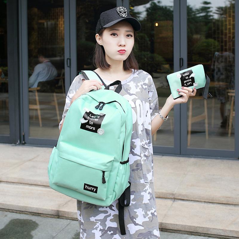女士雙肩包 女生書包 女款旅行包 女士後背包 2017年新款韓版學院風高中學生書包休閑校員背包