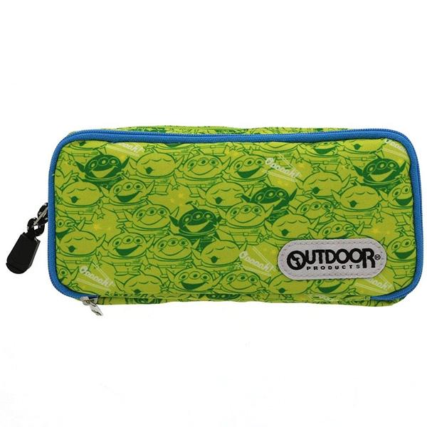 迪士尼x OUTDOOR三眼怪雙層鉛筆袋收納袋化妝包防水日本正版該該貝比日本精品