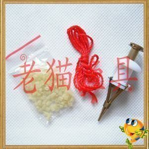 銅制紅蟲夾裝顆粒釣魚垂釣用品配件