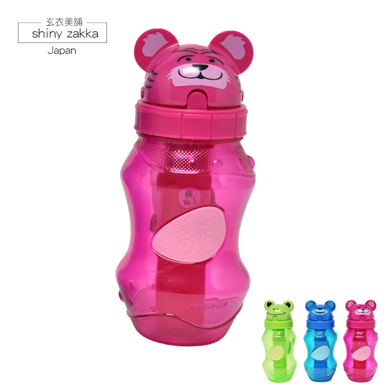 冷水壺-美國COOL GEAR外出運動休閒動物兒童造型水壺-老虎-玄衣美舖