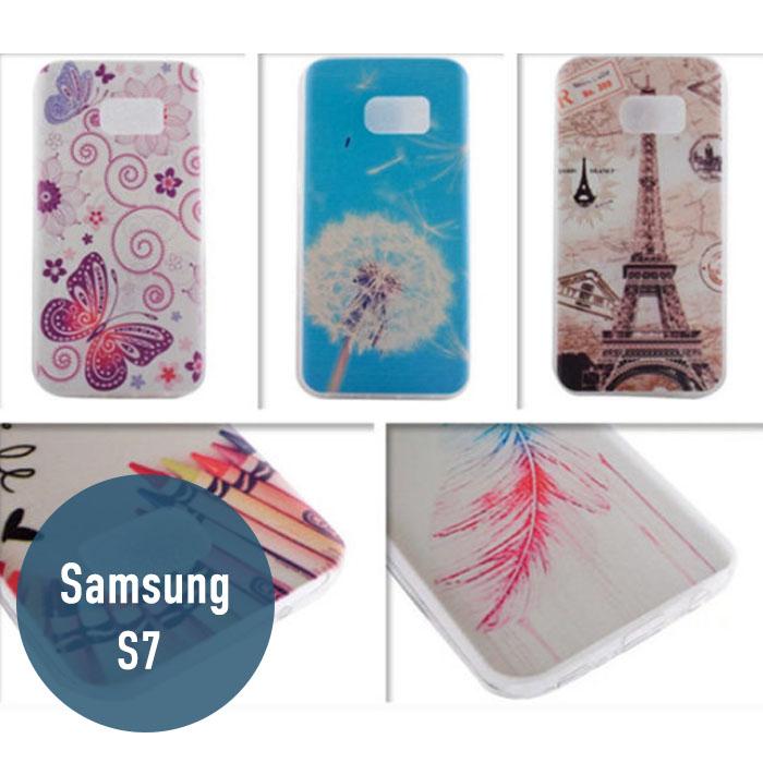 SAMSUNG三星S7彩繪TPU殼手機殼手機套保護殼保護套可愛卡通機殼