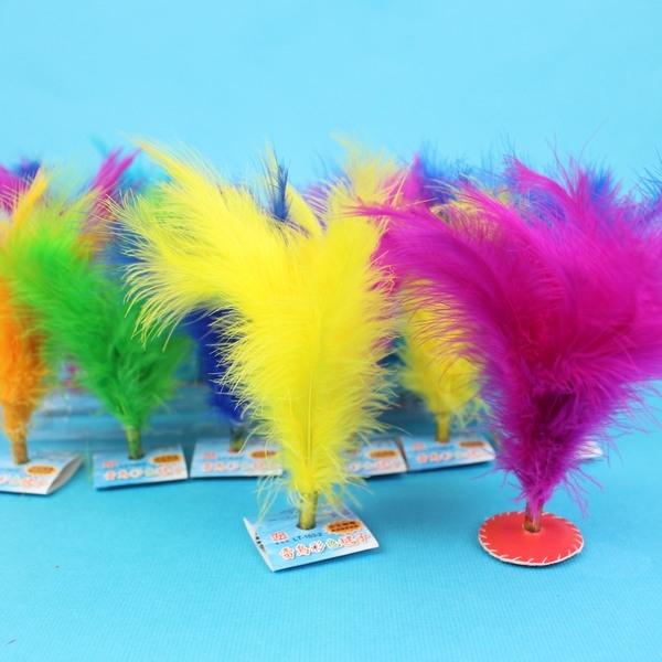 雷鳥彩色毽子 LT-163-2 (小)/一個入{定20} 彩色土雞毛毽子 皮面縫線