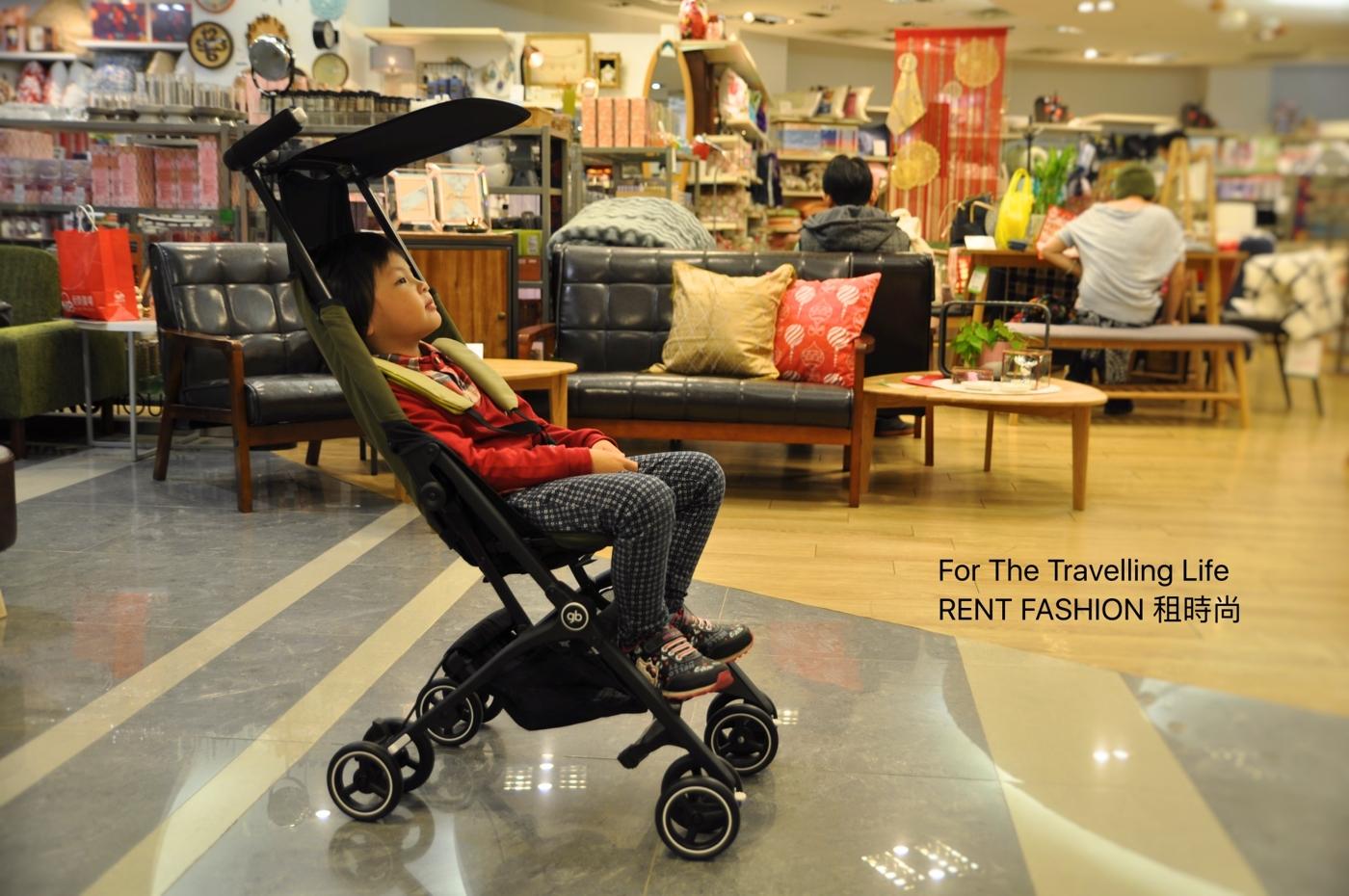 時尚品味嬰兒車出租日本口袋型推車POCKIT3代新生兒時尚橄欖綠推車出租