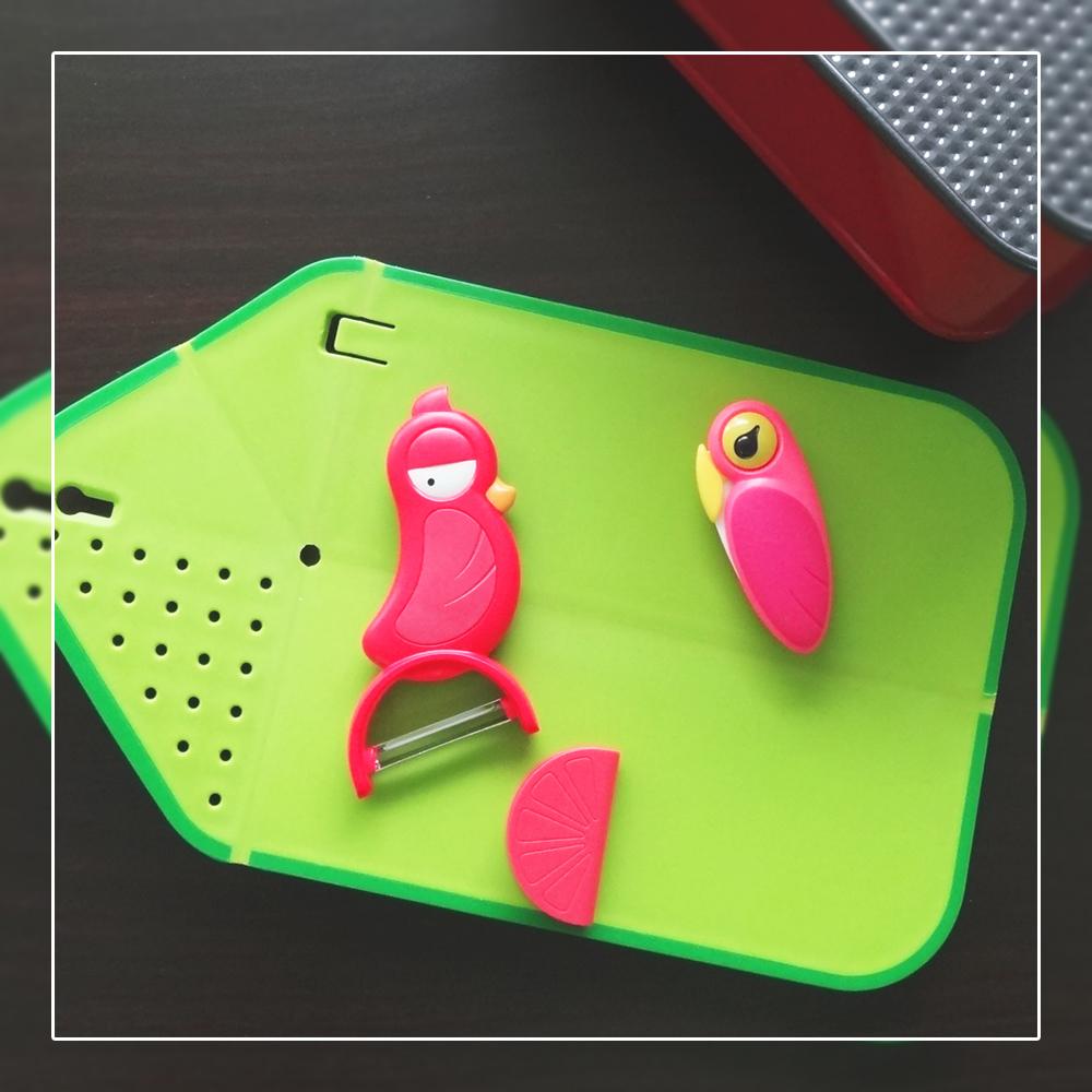 ArtiArt刀具組摺疊菜板陶瓷刀水果刀削皮刀瀝水砧板