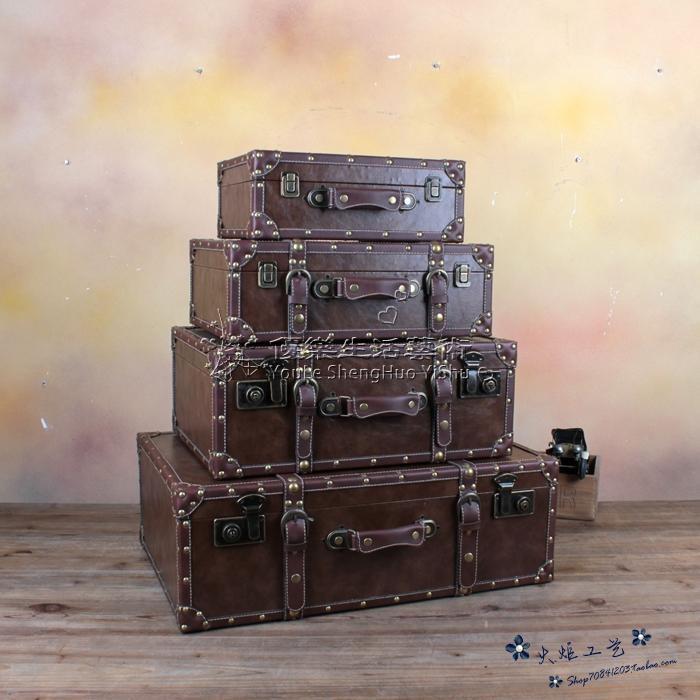 復古手提箱民國皮箱櫥窗陳列攝影道具小號YL-XLX162