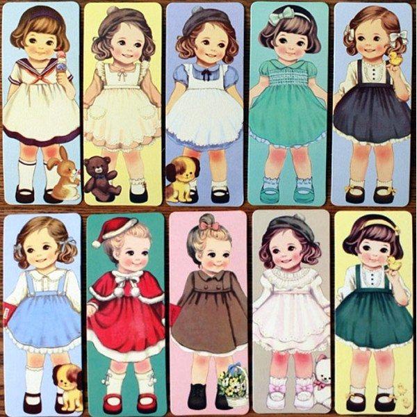 書簽韓國洋娃娃30入書簽想購了超級小物