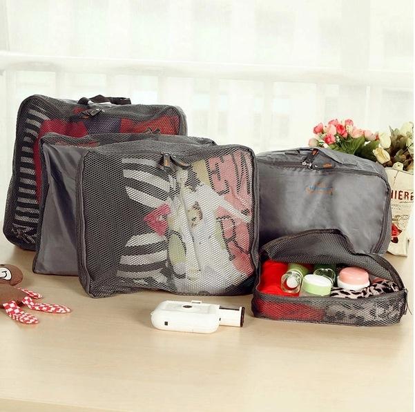 MY COLOR韓式旅行五件組旅行收納袋行李箱壓縮袋旅行箱包中包旅用收納袋收納行李袋N01