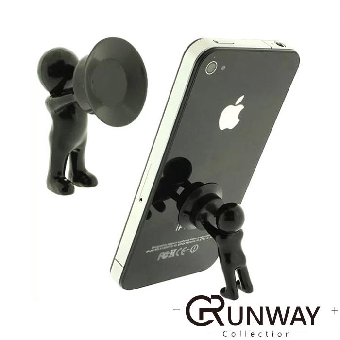 立體小人 手扶造型 大力士 可愛吸盤式支架 桌面手機支架 創意多功能吸盤支撐架 iphone7