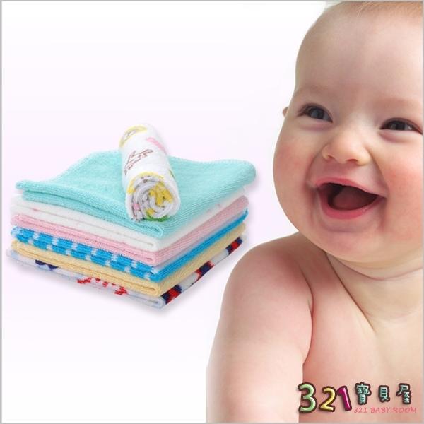 口水巾手帕小毛巾8條入-DANROL 寶寶餵奶巾-321寶貝屋
