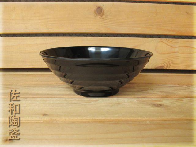 ~佐和陶瓷餐具~【=美耐皿=05B12586黑色586拉麵碗】/ 丼飯碗 拉麵碗 湯碗 碗公 /