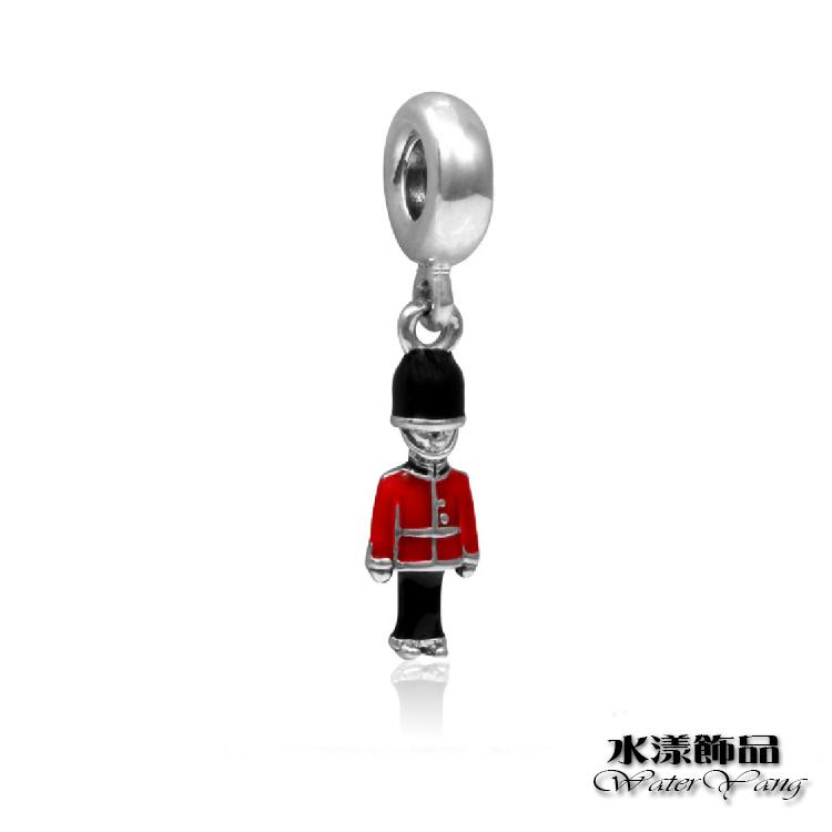 英國禮兵吊墜大孔珠