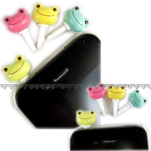 日本正版PLUG IN MASCOT IPHONE 3 4 3.5mm青蛙耳機孔塞防塵塞4色單售