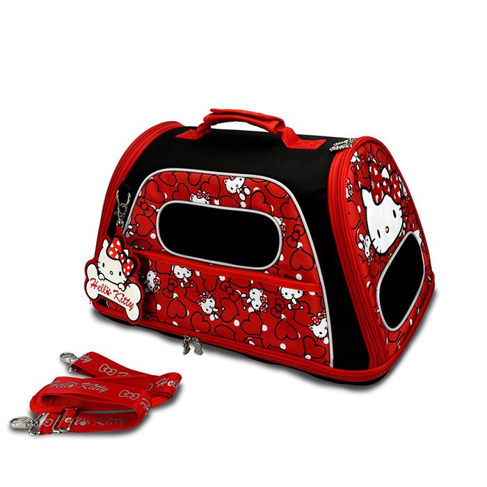 Hello Kitty凱蒂貓正版授權凡爾賽寵物側背箱外出籠紅生活美學