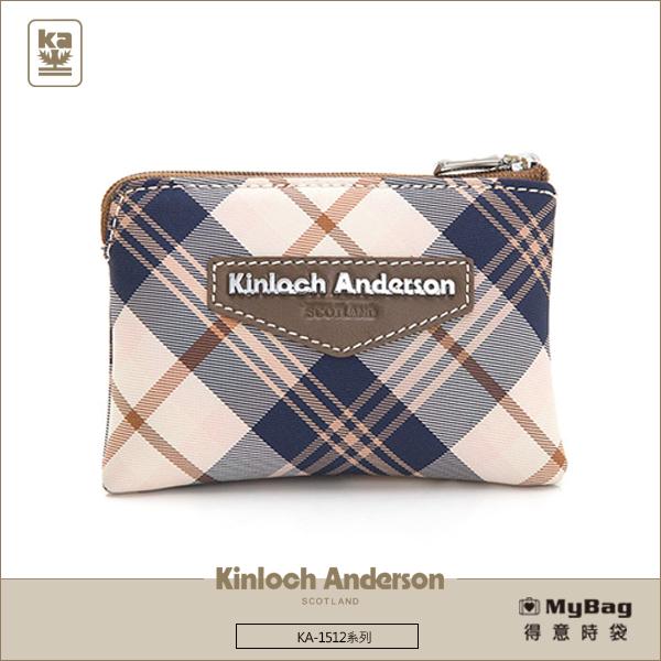 Kinloch Anderson金安德森皮夾零錢包KA151209咖啡經典格紋布女夾MyBag得意時袋