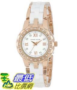 104美國直購Anne Klein Women s 10 9456WTRG Swarovski Crystal Accented Rose女士手錶