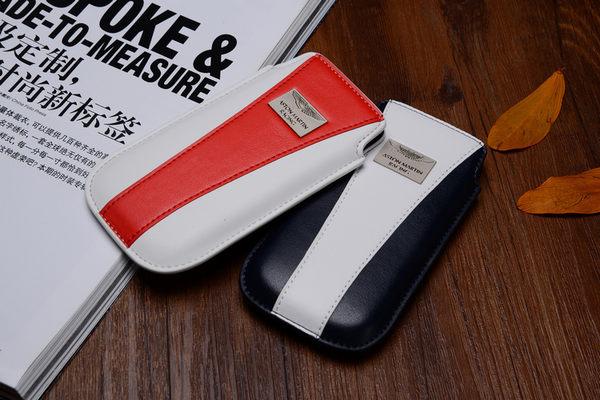 愛瘋潮英國原廠授權Aston Martin Racing 4吋真皮直插皮套for iPhone HTC SAMSUNG賽車系列