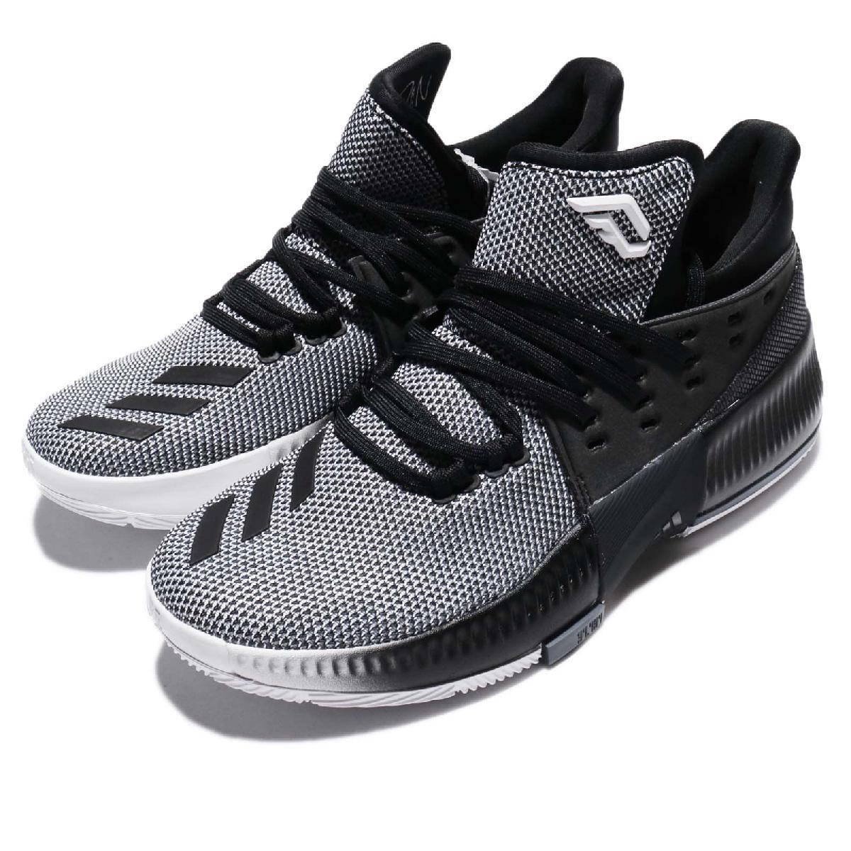 adidas籃球鞋Dame 3 J黑白漸層Damian Lillard女鞋大童鞋PUMP306 CG4228