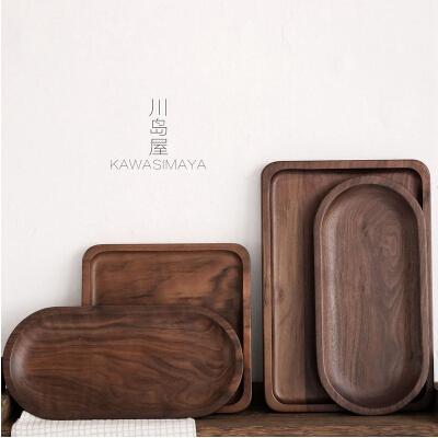 黑胡桃木茶盤 托盤實木茶盤餐盤果盤木質餐具盤TP-4