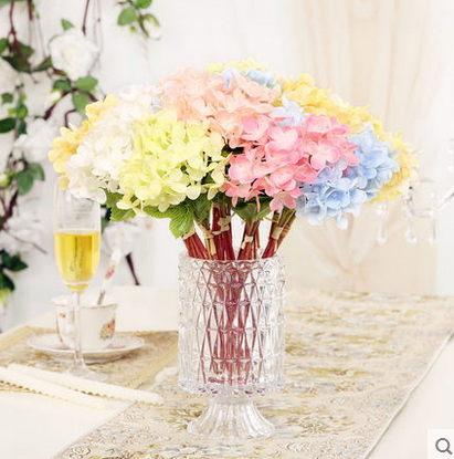 F0806清新簡約瓶花器擺設歐式家居客廳桌面裝飾品繡球花套裝1套
