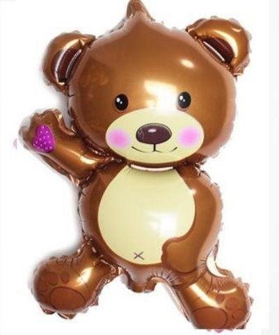 14吋小熊鋁箔氣球(未充氣)/咖啡色~~求婚道具/婚禮 生日 耶誕節 尾牙佈置