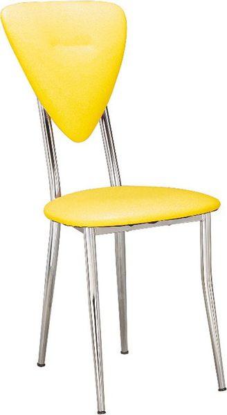 HY-Y313-3  心巧餐椅(黃色/電鍍)