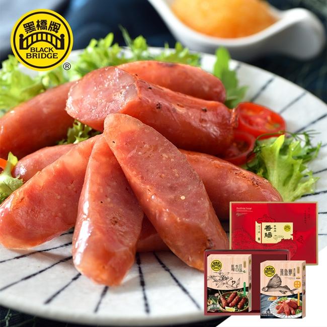 【黑橋牌】精選香腸禮盒H-360g原味飛魚卵香腸+360g馬告香腸
