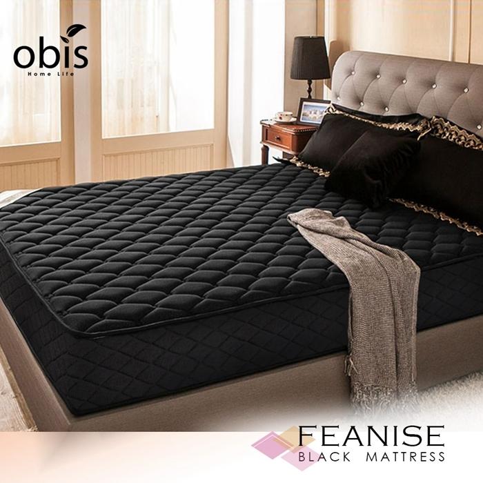 雙人床墊 鑽黑系列-FEANISE二線獨立筒無毒床墊[雙人5尺×6.2尺]【obis】