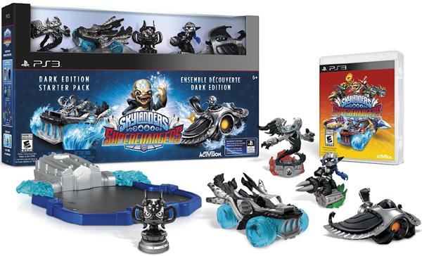 PS3 Skylanders SuperChargers Dark Edition Starter Pack寶貝龍冒險:超級增壓器暗黑入門包美版代購