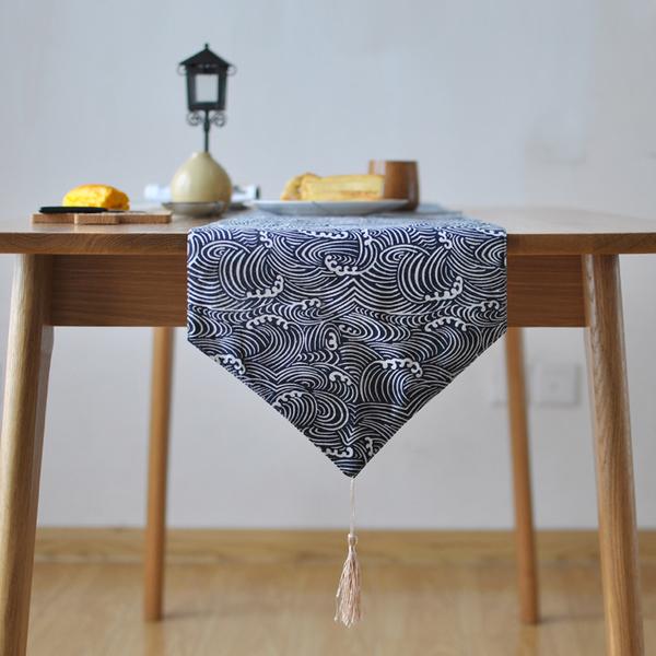 時尚可愛空間餐桌布 茶几布 隔熱墊 鍋墊 杯墊 餐桌巾桌旗114 (30*140cm)