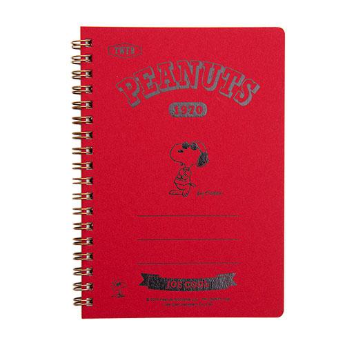 《sun-star》SNOOPY美式生活系列B6精裝方格線圈筆記本(JOE COOL紅)★funbox生活用品★_OP47878